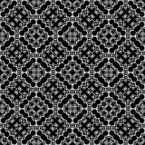 Fondo senza cuciture del modello in bianco e nero Progettazione ornamentale astratta d'annata e retro Piano semplice fotografia stock libera da diritti