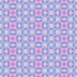 Fondo senza cuciture del modello del caleidoscopio del mosaico - blu rosa, porpora, della viola e di bambino sveglio colorato Immagini Stock Libere da Diritti