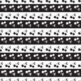 Fondo senza cuciture del modello in ciliegia Bacche in bianco e nero Fotografie Stock