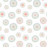 Fondo senza cuciture del modello dei cerchi Fotografia Stock Libera da Diritti