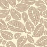Fondo senza cuciture del modello dei fiori delle foglie Illustrazione di vettore Fotografia Stock