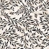 Fondo senza cuciture del modello dei rami delle foglie Illustrazione di vettore Fotografia Stock