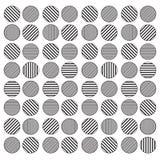 Fondo senza cuciture del modello del cerchio geometrico in bianco e nero Immagini Stock Libere da Diritti