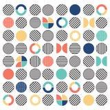 Fondo senza cuciture del modello del cerchio misto variopinto geometrico Immagini Stock Libere da Diritti
