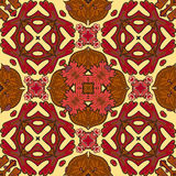 Fondo senza cuciture del modello del damasco, ornamento variopinto marocchino Fotografie Stock