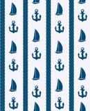 Fondo senza cuciture del modello del mare astratto. Vettore Immagini Stock