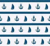 Fondo senza cuciture del modello del mare astratto. Vettore Immagine Stock Libera da Diritti