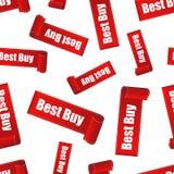 Fondo senza cuciture del modello dell'autoadesivo di Best Buy Vect piano di affari Fotografia Stock Libera da Diritti