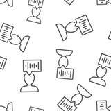Fondo senza cuciture del modello dell'icona di riconoscimento della voce Illustrazione sana di vettore di autenticazione su fondo illustrazione di stock