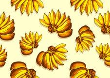 Fondo senza cuciture del modello della banana illustrazione di stock