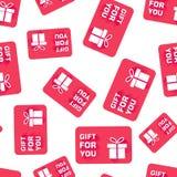 Fondo senza cuciture del modello della carta di regalo Illu piano di vettore di affari illustrazione vettoriale