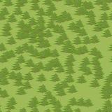 Fondo senza cuciture del modello della foresta variopinta astratta dell'albero nello stile del fumetto Fotografia Stock Libera da Diritti