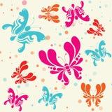 Fondo senza cuciture del modello delle farfalle variopinte - vettore Fotografia Stock Libera da Diritti