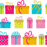Fondo senza cuciture del modello di festa del contenitore di regalo Fotografia Stock