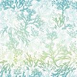 Fondo senza cuciture del modello di Freen di vettore di struttura blu dell'alga Grande per tessuto grigio elegante, carte, inviti illustrazione di stock