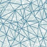 Fondo senza cuciture del modello di Grey Blue Wire Geometric Mosaic di vettore di ripetizione d'argento dei triangoli Può essere  Fotografia Stock Libera da Diritti