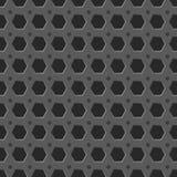 Fondo senza cuciture del modello di griglia del metallo Fotografia Stock