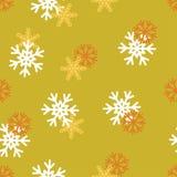 Fondo senza cuciture del modello di inverno con i fiocchi di neve Immagine Stock Libera da Diritti