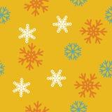 Fondo senza cuciture del modello di inverno con i fiocchi di neve Immagini Stock