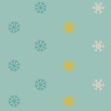 Fondo senza cuciture del modello di inverno con i fiocchi di neve Fotografie Stock