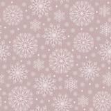 Fondo senza cuciture del modello di Natale del pizzo di vettore della Boemia monocromatico semplice dei fiocchi di neve per tessu royalty illustrazione gratis