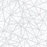 Fondo senza cuciture del modello di ripetizione d'argento di Grey Wire Geometric Mosaic Triangles di vettore Può essere usato per Immagini Stock Libere da Diritti