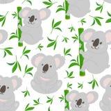 Fondo senza cuciture del modello di scarabocchio della koala royalty illustrazione gratis