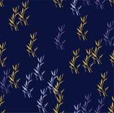 Fondo senza cuciture del modello di vettore dei fiori Arte di bambù giapponese degli elementi eleganti Fotografie Stock Libere da Diritti