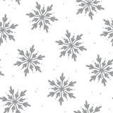 Fondo senza cuciture del modello del fiocco di neve adorabile Immagine Stock Libera da Diritti