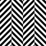 Fondo senza cuciture del modello del gallone di zigzag Il nero e colore alterni del whitce Illustrazione di vettore Fotografie Stock Libere da Diritti