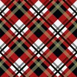 Fondo senza cuciture del modello del tartan Plaid nero, rosso e bianco, modelli della camicia della flanella del tartan Illustraz illustrazione di stock