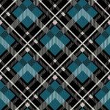 Fondo senza cuciture del modello del tartan Plaid rosso, nero, blu, beige e bianco, modelli della camicia della flanella del tart royalty illustrazione gratis