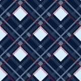 Fondo senza cuciture del modello del tartan Plaid rosso, nero, blu, beige e bianco, modelli della camicia della flanella del tart illustrazione vettoriale
