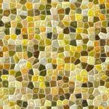 Fondo senza cuciture del pavimento del mosaico di superficie del marmo con colore beige, giallo e verde grigio della malta liquid Fotografia Stock