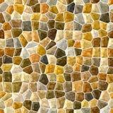 Fondo senza cuciture del pavimento del mosaico di superficie del marmo con malta liquida bianca - oro, beige, colore marrone Fotografie Stock Libere da Diritti