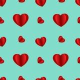 Fondo senza cuciture del segno rosso del cuore, illustrazione di stock