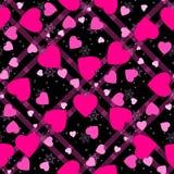 Fondo senza cuciture del tartan del modello del cuore Cuore rosa Progettazione di imballaggio per l'involucro di regalo Fondo mod royalty illustrazione gratis