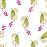 Fondo senza cuciture dell'acquerello che consiste dei fiori secchi Immagini Stock Libere da Diritti