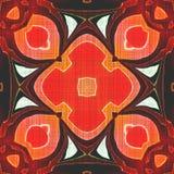 Fondo senza cuciture dell'arancia del batik Fotografie Stock Libere da Diritti