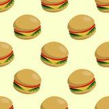 Fondo senza cuciture dell'hamburger Immagine Stock Libera da Diritti
