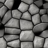 Fondo senza cuciture dell'illustrazione del muro di mattoni grigio - strutturi il modello per la replica continua Vecchio fondo g Fotografie Stock