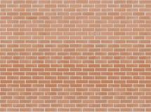 Fondo senza cuciture dell'illustrazione di vettore del muro di mattoni arancio Reticolo di struttura per la replica continua royalty illustrazione gratis