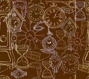 Fondo senza cuciture dell'orologio Fotografie Stock