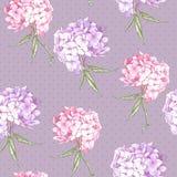 Fondo senza cuciture della bella ortensia rosa royalty illustrazione gratis