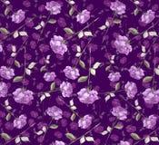 Fondo senza cuciture della carta da parati dell'acquerello dell'estratto di arte rosa viola porpora lussuosa del fiore Fotografia Stock Libera da Diritti