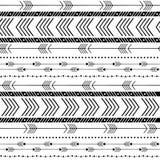 Fondo senza cuciture della freccia tribale astratta illustrazione vettoriale