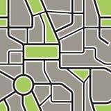 Fondo senza cuciture della mappa astratta della città Fotografia Stock