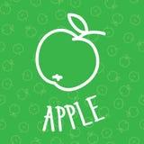 Fondo senza cuciture della mela di Handdraw Immagine Stock
