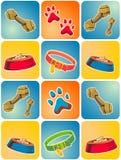 Tema dell'icona del cane Immagini Stock Libere da Diritti
