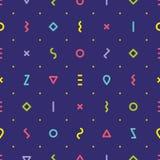 Fondo senza cuciture delle dalle forme geometriche colorate multi illustrazione vettoriale